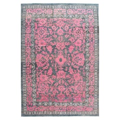 21st Century Contemporary Oushak Colorful Wool Rug