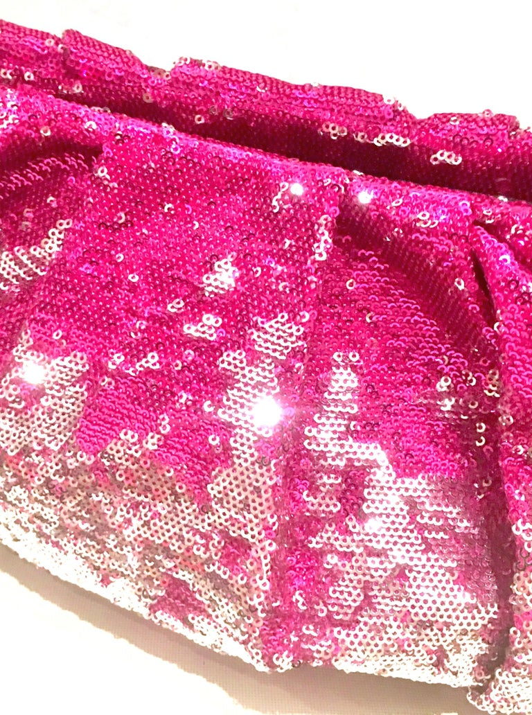 21st Century Contemporary Sequin, Leather & Chrome Hand Bag By, OrYanny For Sale 5