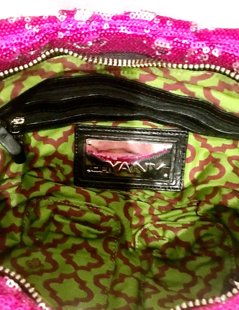 21st Century Contemporary Sequin, Leather & Chrome Hand Bag By, OrYanny For Sale 11
