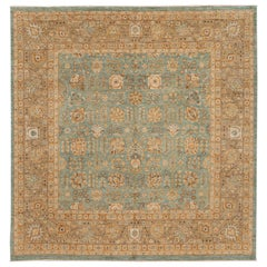 21st Century Contemporary Tabriz Style Square Wool Rug