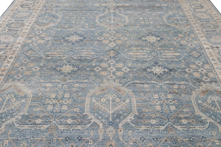 21st Century Contemporary Tabriz Style Wool Rug For Sale 5