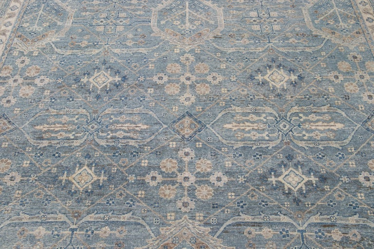 21st Century Contemporary Tabriz Style Wool Rug For Sale 6