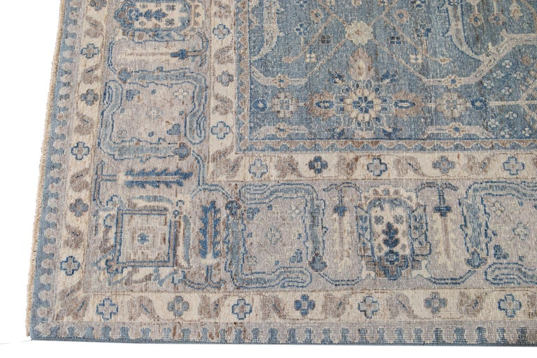21st Century Contemporary Tabriz Style Wool Rug For Sale 7