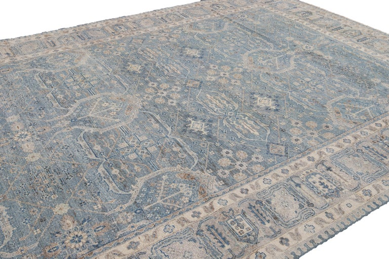 21st Century Contemporary Tabriz Style Wool Rug For Sale 8