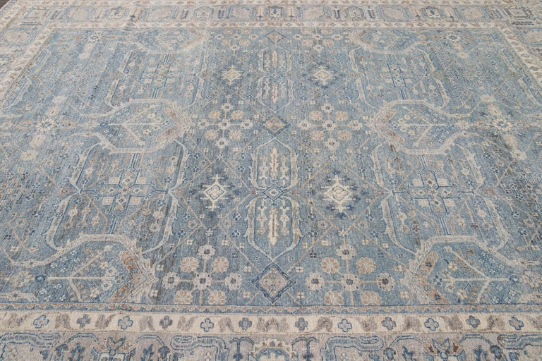 Pakistani 21st Century Contemporary Tabriz Style Wool Rug For Sale