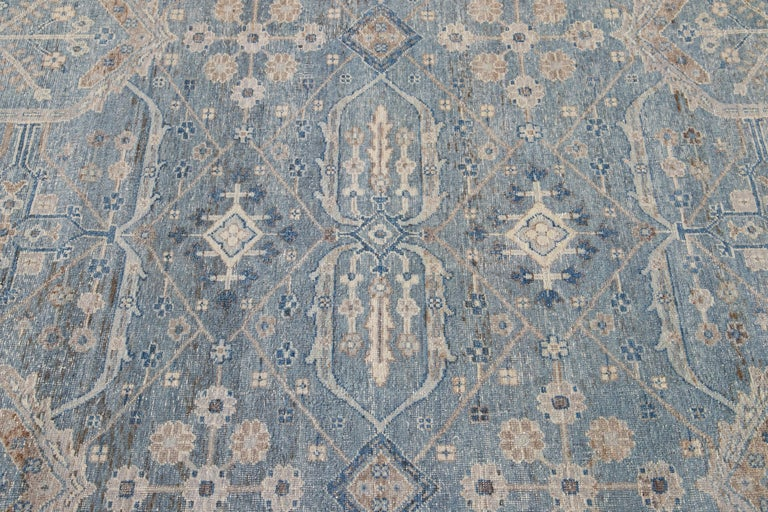 Hand-Knotted 21st Century Contemporary Tabriz Style Wool Rug For Sale