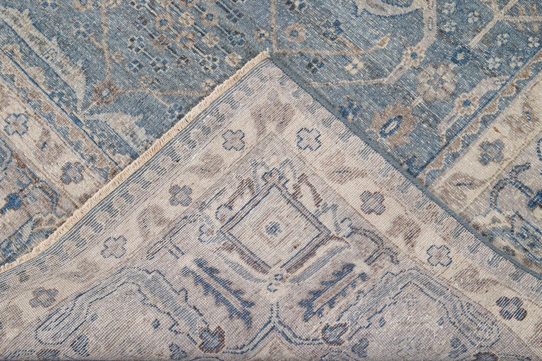 21st Century Contemporary Tabriz Style Wool Rug For Sale 1