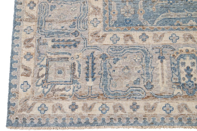 21st Century Contemporary Tabriz Style Wool Rug For Sale 4