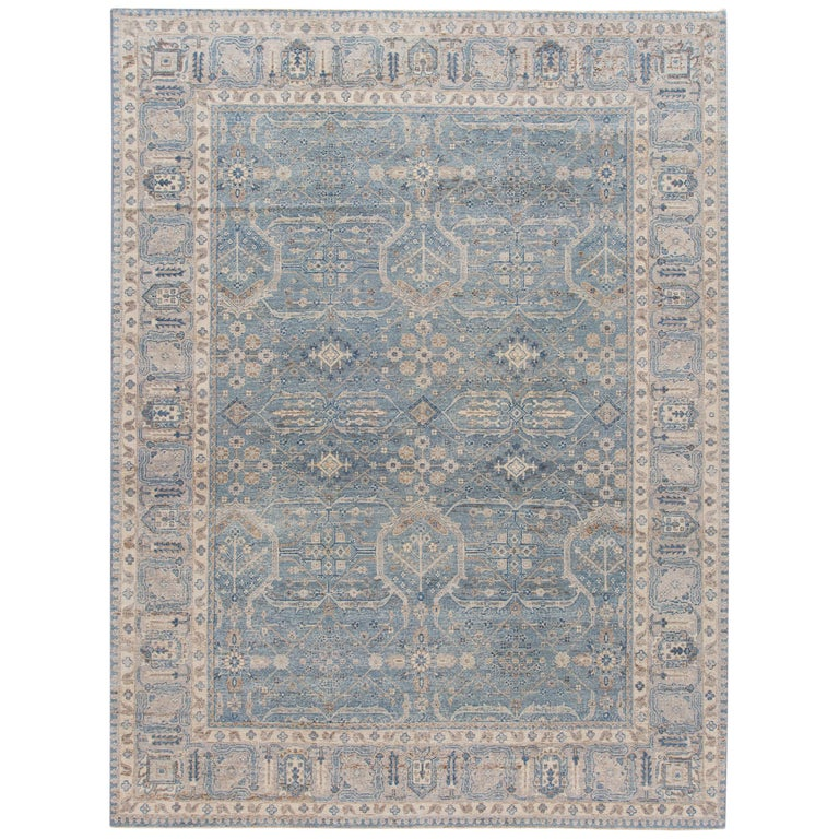 21st Century Contemporary Tabriz Style Wool Rug For Sale