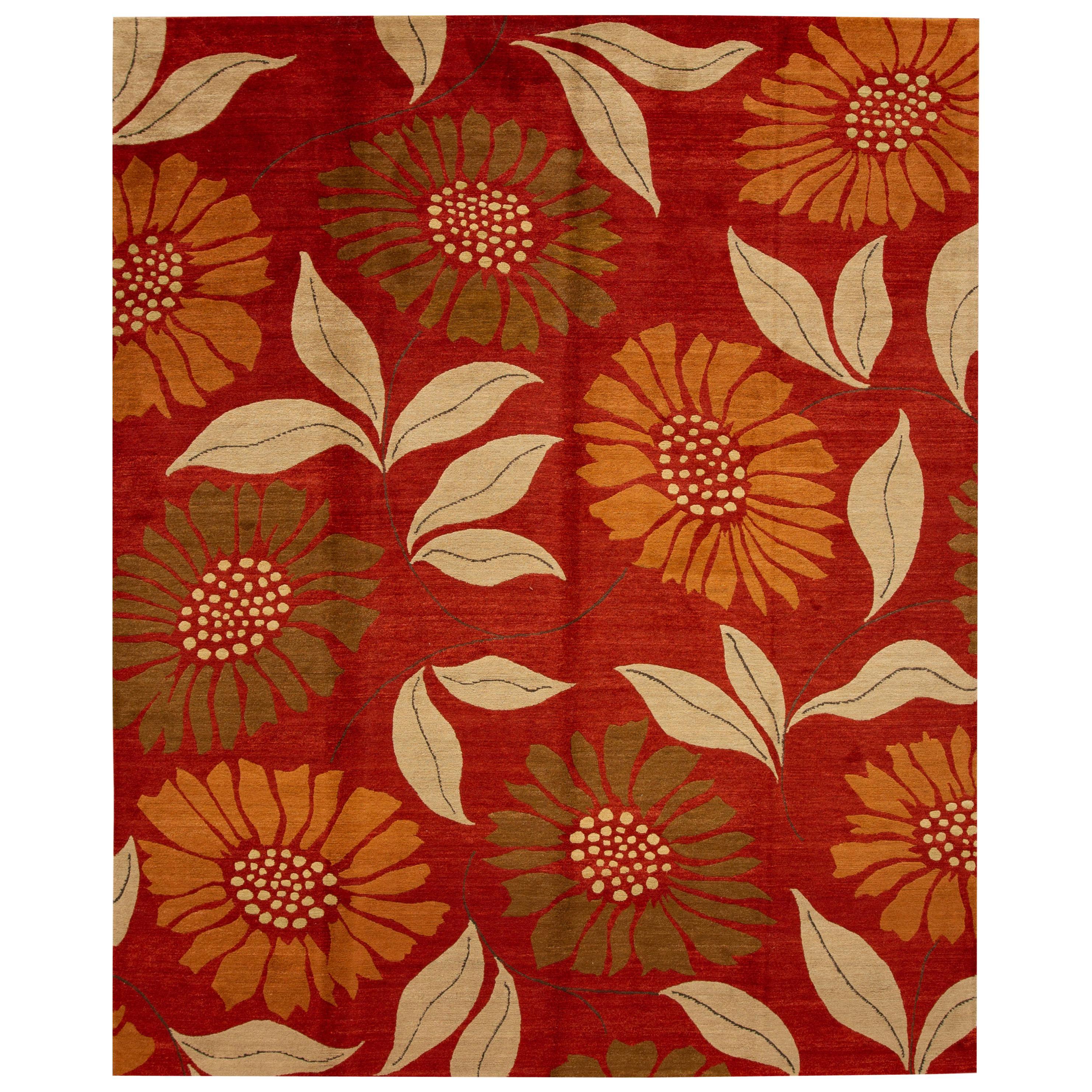 21st Century Contemporary Tibetan Wool Rug