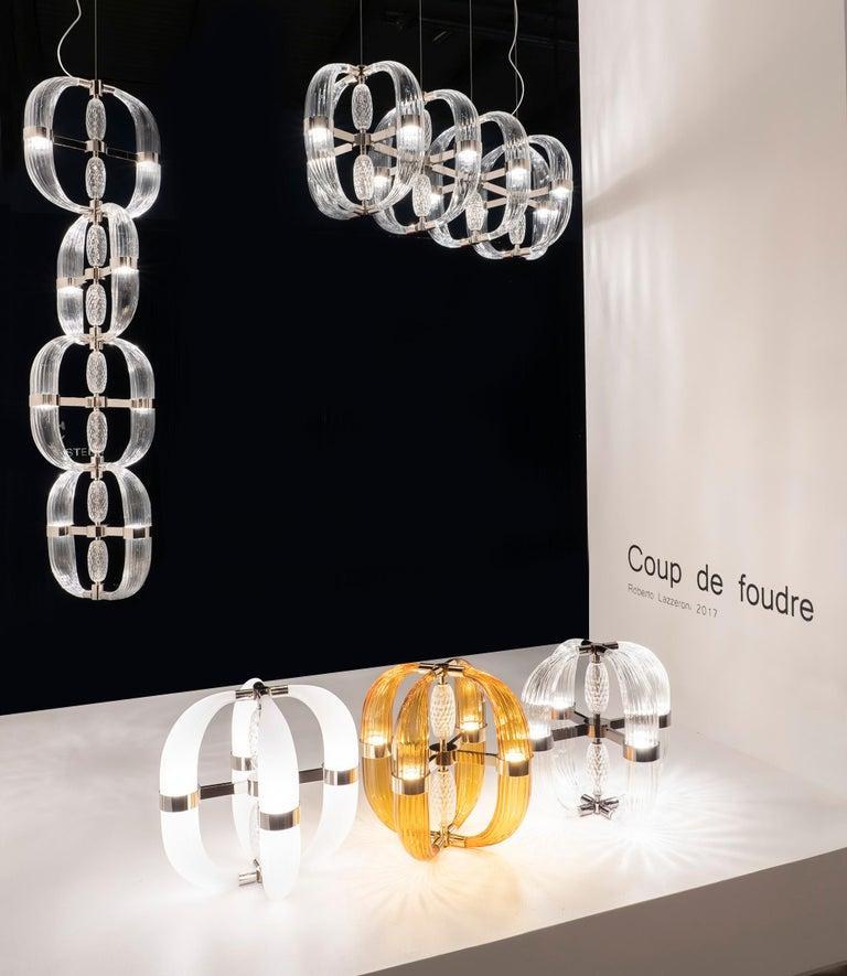 21st Century Coup de Foudre white blown glass chandelier by Roberto Lazzeroni  In New Condition For Sale In Sesto Fiorentino, IT