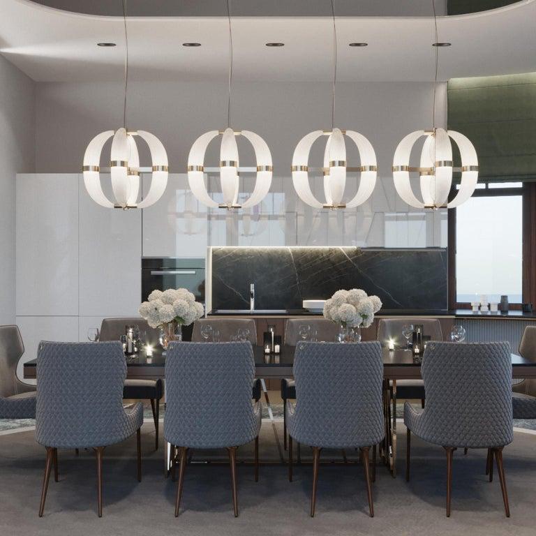 Contemporary 21st Century Coup de Foudre white blown glass chandelier by Roberto Lazzeroni  For Sale
