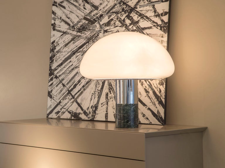 Italian 21st Century Created by William Pianta Table Desk Lamp K&W Murano Glass Marble For Sale