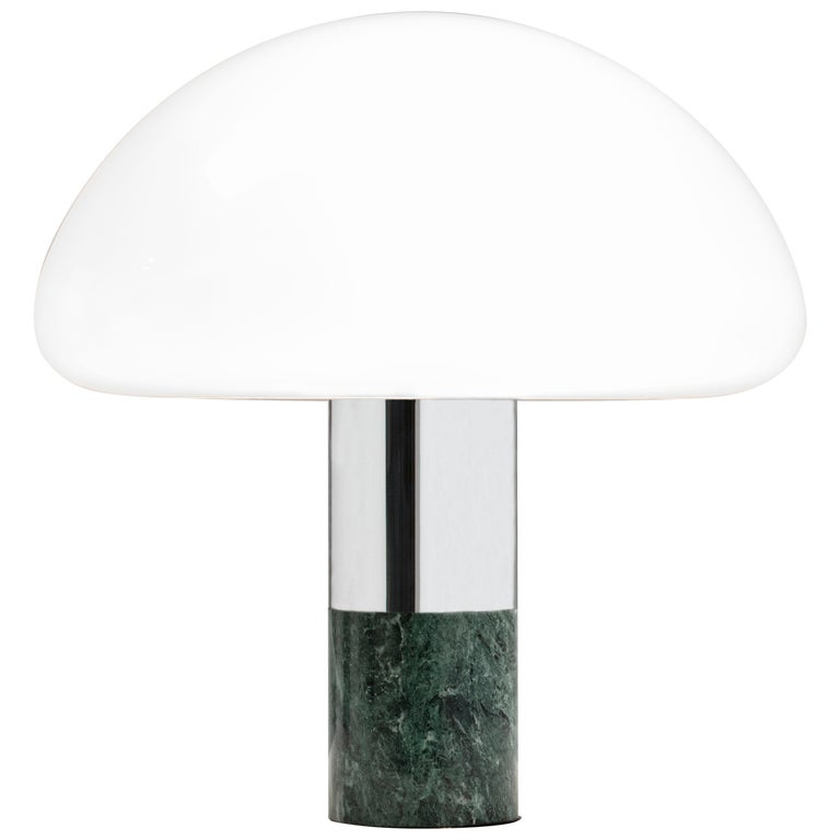 21st Century Created by William Pianta Table Desk Lamp K&W Murano Glass Marble For Sale