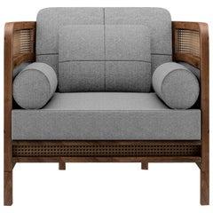 21st Century Crockford Armchair Walnut Wood