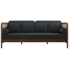21st Century Crockford Sofa Walnut Wood