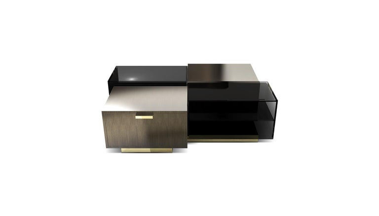 Cubicle center table was inspired by Robert Propst 1967's creation, the Action Office, commonly knowned as cubicles. At the time, these working areas were a symbol of a new era in the modern office setting due to their uniformity, blandness and to