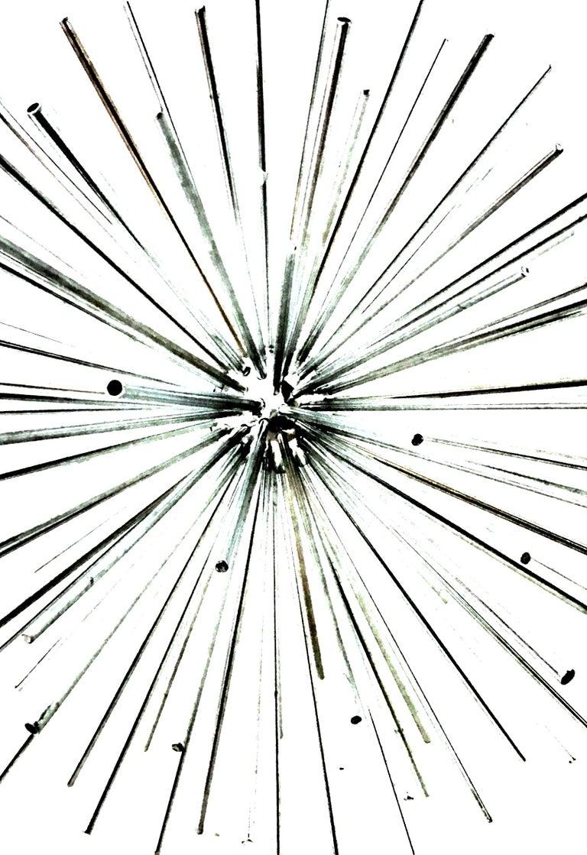 Contemporary 21st Century Curtis Jere Large Chrome Sputnik Sculpture, Signed For Sale