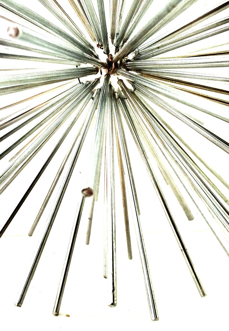 21st Century Curtis Jere Large Chrome Sputnik Sculpture, Signed For Sale 1