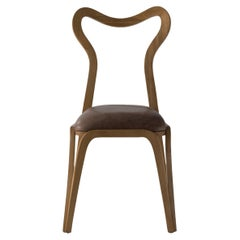 21st Century DAINA Dining Chair in Wood and with Upholstered Seat