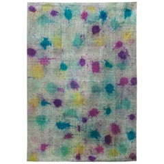 21st Century Daliesque Collection Multi-Color Handwoven Wool Rug