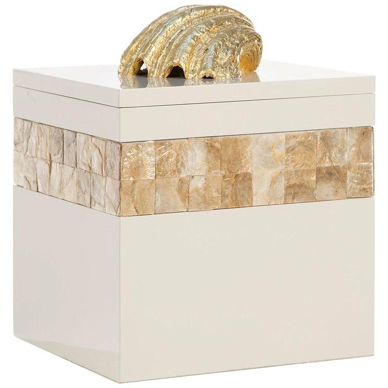 21st Century Dandara L Wooden Decorative Box Gilding Lacquering Nacre For Sale