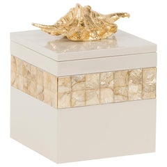 Dandara M Wooden Decorative Box Gold Leaf Gilding Cream Lacquering Nacre