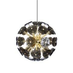 21st Century Dandelion Suspension Lamp Brass
