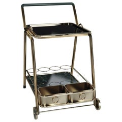 21st Century Decatur Bar Cart Marble and Aged Brass