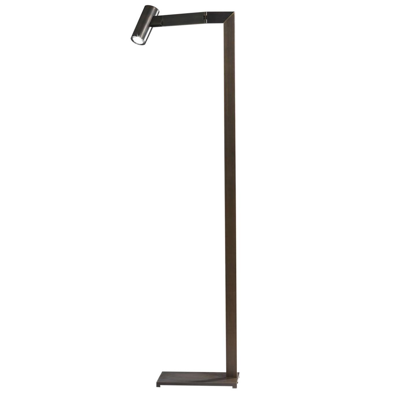 21st Century Design William Pianta Floor Lamp MAHARI Burnishe Brass LED