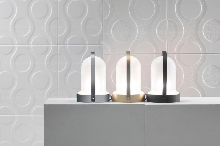 21st Century Design William Pianta Table Lamp Goncen Brushed Finish Murano Glass In New Condition For Sale In Collebeato Brescia, IT