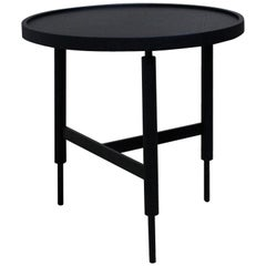 21st Century Designed by Collector Studio Collin Side Table Oak and Metal