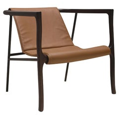 21st Century Designed by Collector Studio Elliot Armchair Oak Metal and Leather