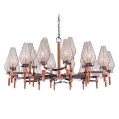 21st Century Dew Gunmetal & Copper Chandelier Crystal Shade by Patrizia Garganti