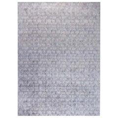 Doris Leslie Blau Collection Diamond-Like Shape Beige & Gray Handmade Mohair Rug