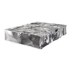 """FUCINA """"DISTORSIONI CHOPPYWATER"""" Low Table Stainless Steel Mirror Polished"""