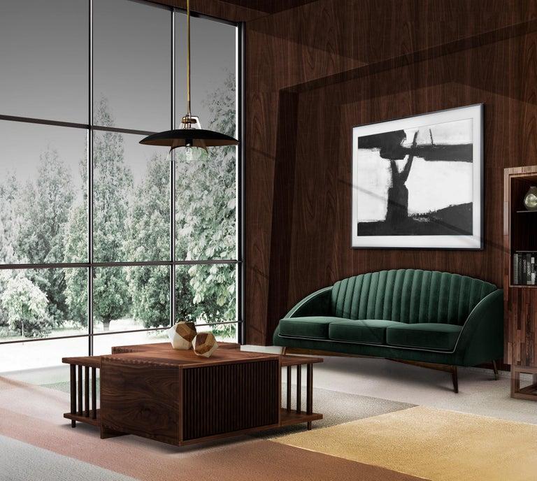 Woodwork 21st Century Douglas Center Table Walnut Wood For Sale