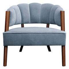 21st Century Ellen Armchair Cotton Velvet Pinewood