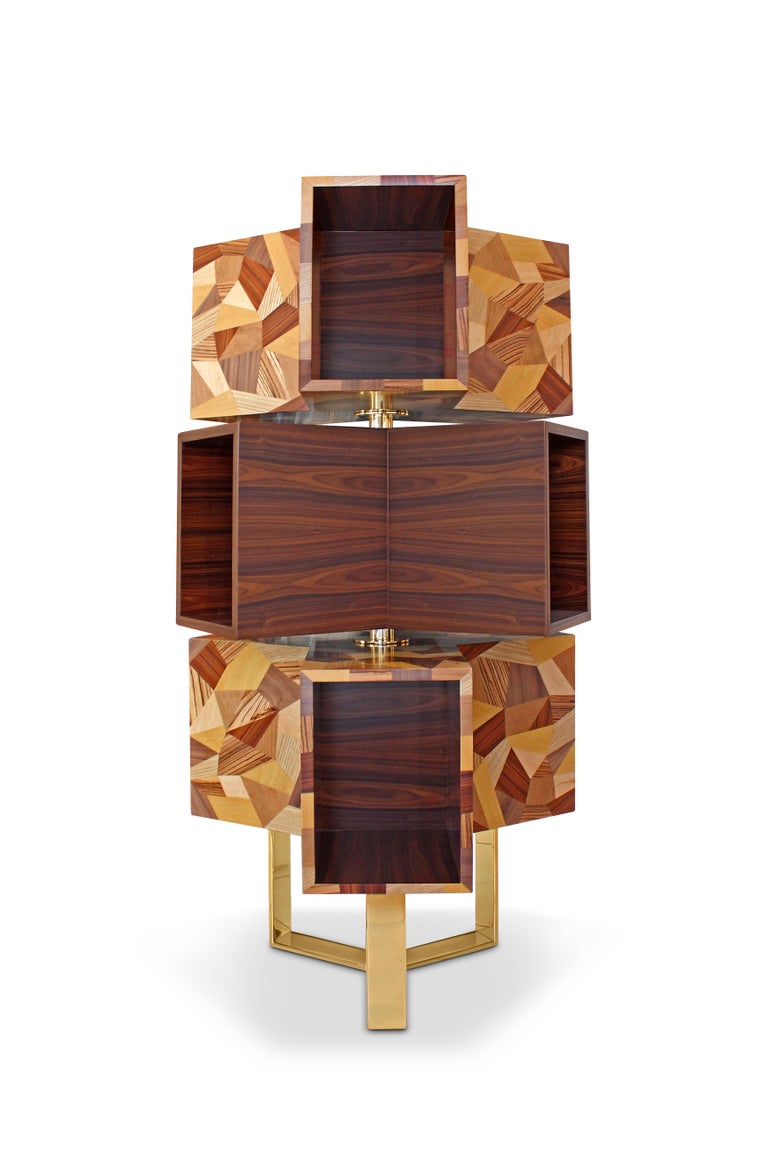 The Emel modern bookcase follows the strict design directives given by the famed Italian rationalist architect Aldo Rossi. The urban influence of Rossi and Malabar's sense of aesthetics converged to create a contemporary and spirited piece. Emel's