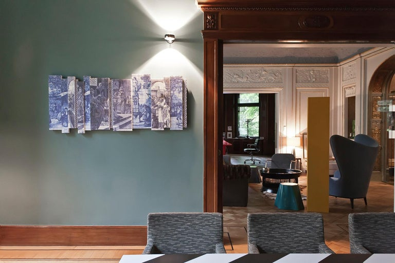 21st Century European Azulejos Sound Absorbing Wall Mural by Marie Aigner In New Condition For Sale In Maisach, Bavaria