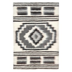 21st Century European Folk Stamverband VII Rug in Cream and Charcoal