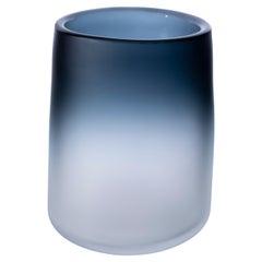 21st Century Federico Peri Cilindro Small Satin Vase Murano Glass Various Color