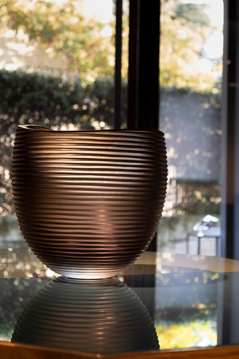21st Century Federico Peri Large Vase Murano Glass Various Colors In New Condition For Sale In Brembate di Sopra (BG), IT