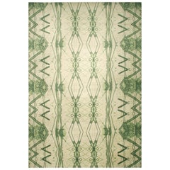 21st Century Festival Rug by Eskayel in Green and Ivory