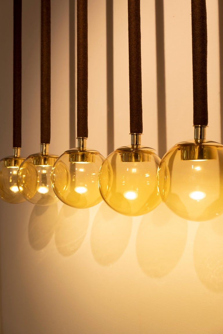 21st Century Filippo Feroldi Suspension Lamps Murano Glass Brass Various Colors For Sale 4
