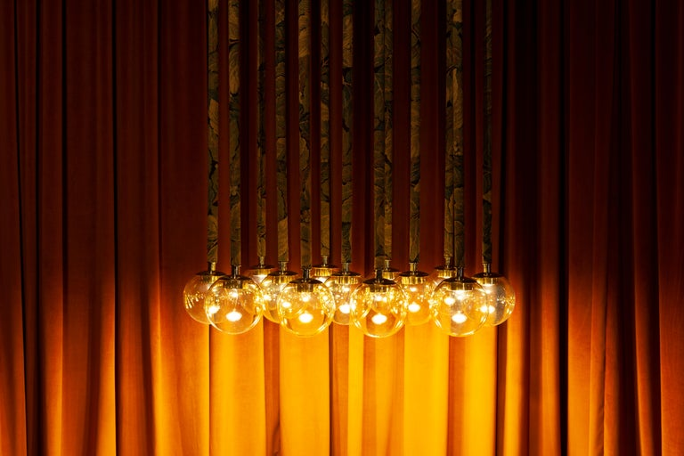 21st Century Filippo Feroldi Suspension Lamps Murano Glass Brass Various Colors For Sale 5