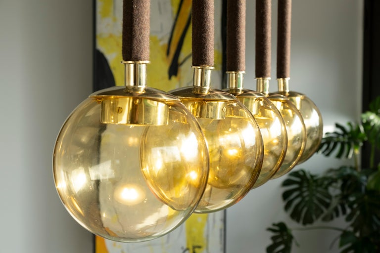 21st Century Filippo Feroldi Suspension Lamps Murano Glass Brass Various Colors In New Condition For Sale In Brembate di Sopra (BG), IT