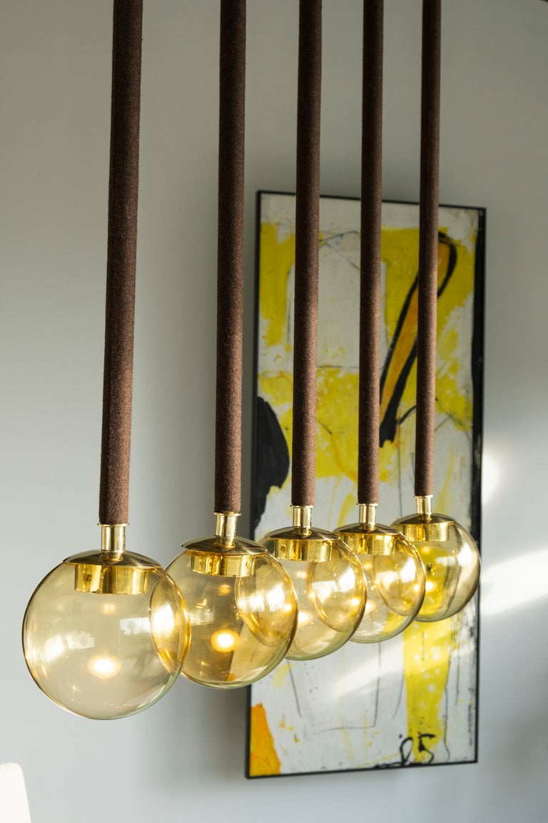 21st Century Filippo Feroldi Suspension Lamps Murano Glass Brass Various Colors For Sale 1
