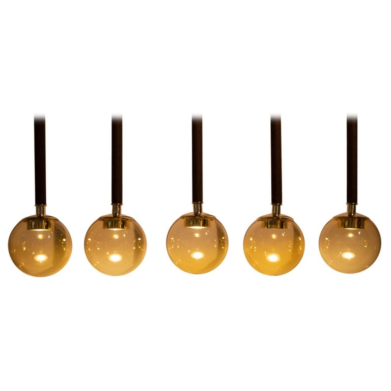 21st Century Filippo Feroldi Suspension Lamps Murano Glass Brass Various Colors For Sale