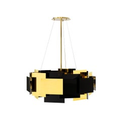 21st Century Fo Tan II Suspension Lamp Brass Layers